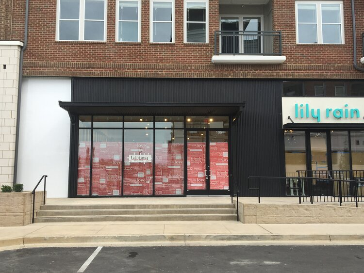 lululemon athletica storefront construction