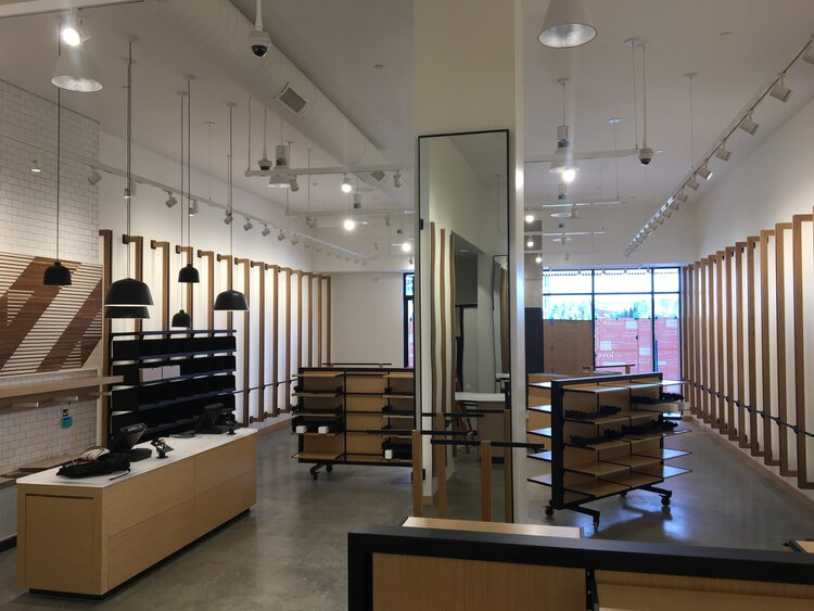 lululemon athletica interior displays