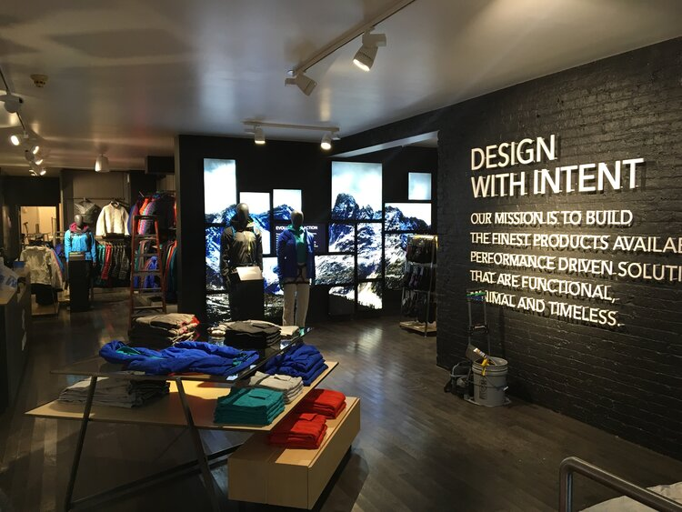 Arc'Teryx Design with Intent feature wall