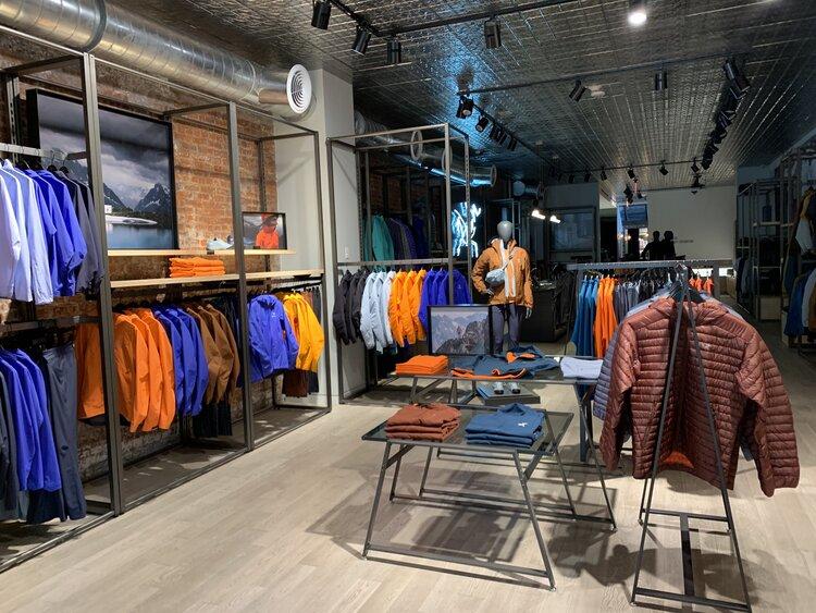 Arc'Teryx Interior displays of merchandise