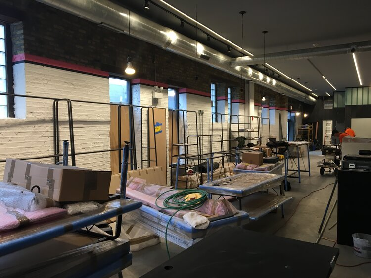 Rapha Cycle Clubs interior construction