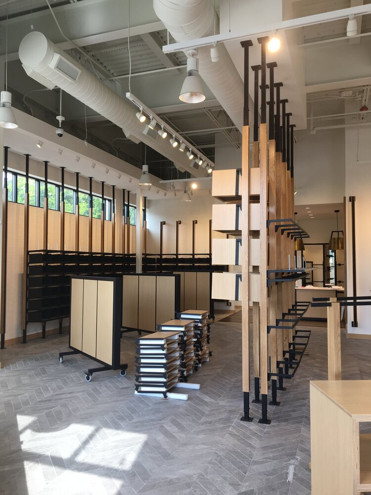 lululemon athletica interior display construction