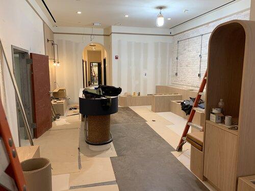Bond Vet Lobby Construction