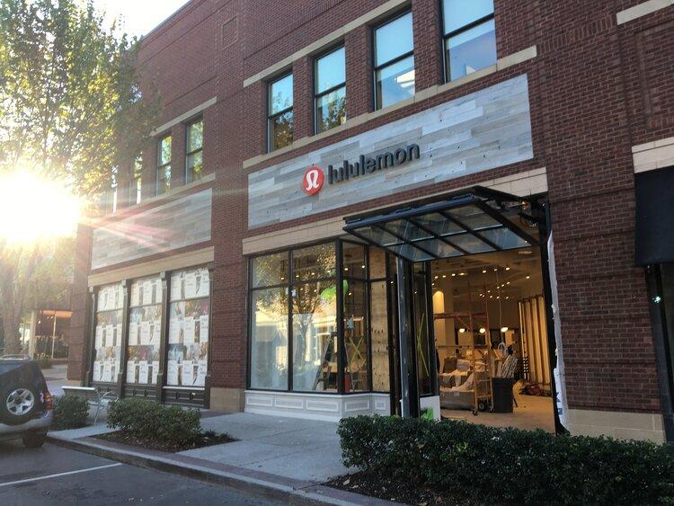 lululemon athletica exterior storefront