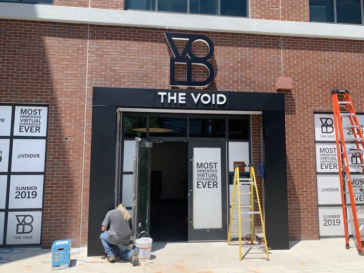 The Void storefront construction