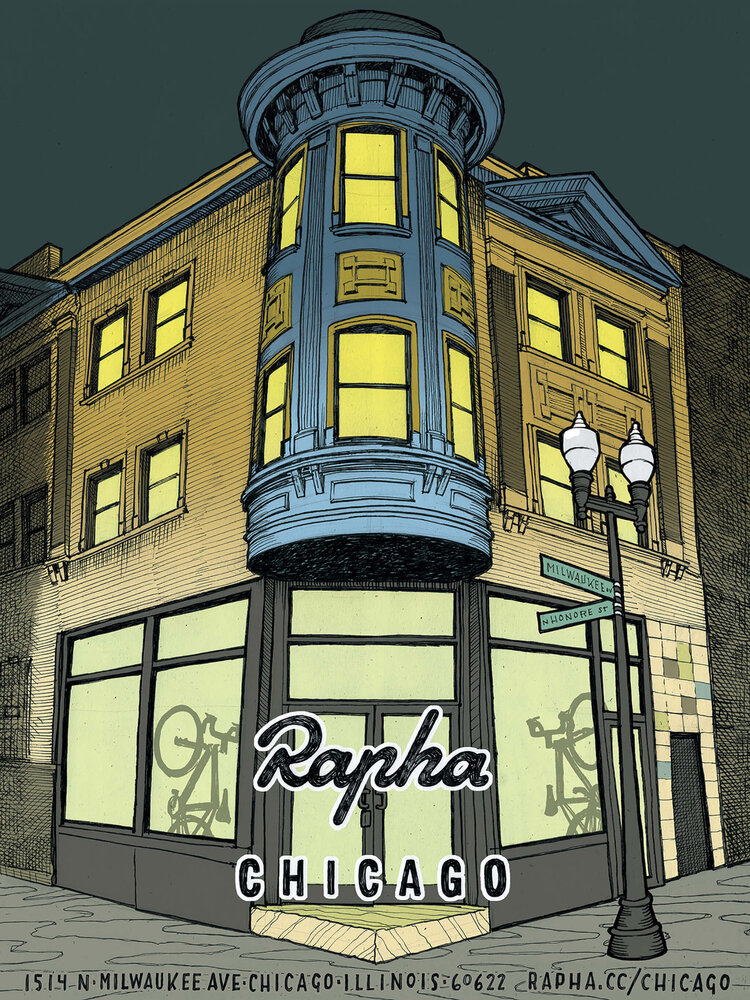Rapha Cycle Clubs Chicago rendering