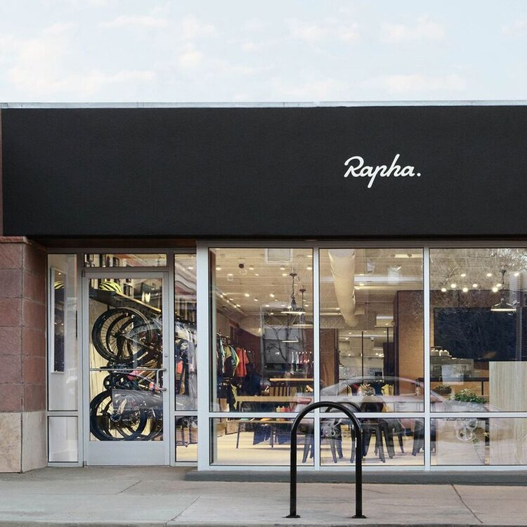Rapha Cycle Clubs exterior storefront