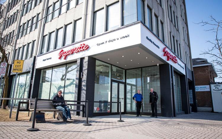 Superette exterior storefront
