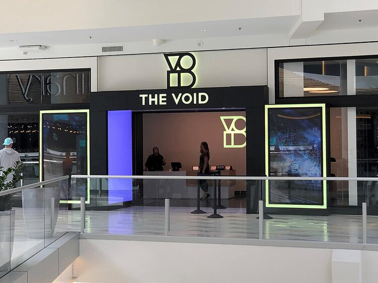 The Void storefront in shopping center
