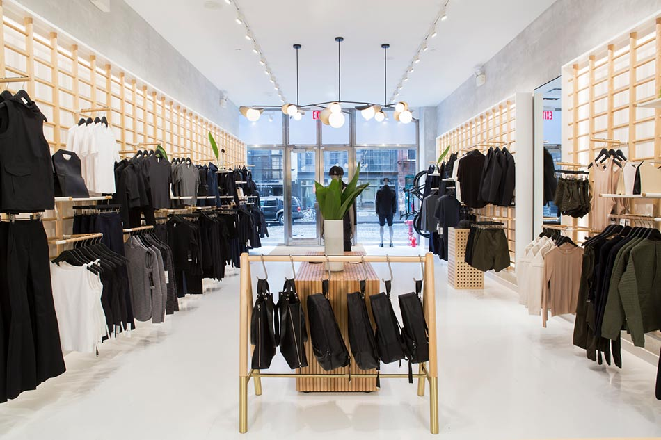 Lululemon interior store
