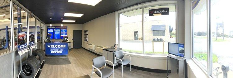 Monro interior waiting area