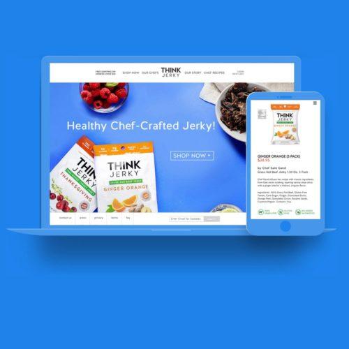 WordPress Web Design by Lunar for Think Jerky