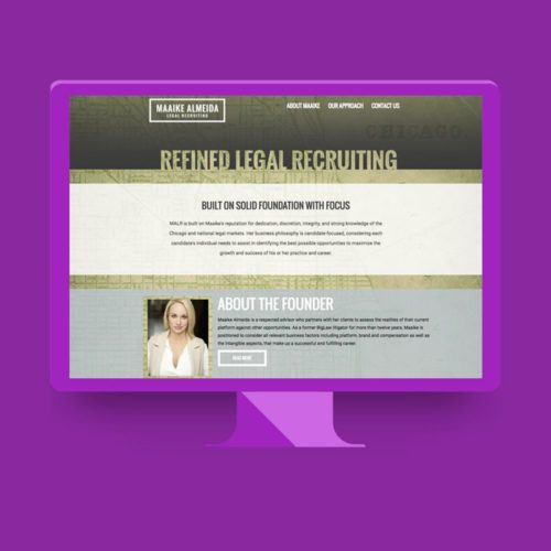 WordPress web design by Lunar Media for Legal Recruting Firm