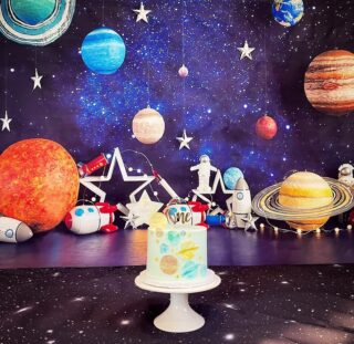 Out of this world Smash Cake session 💫 I used watercolors on wafer paper to make the planets 🌑🌎🪐 (food gel watercolors!) . . .  #instabakes #instabakers #funcakes #funcakes #BakerLife #cakesdaily #cakesinstyle #cakeinspo #cakesofinstagram #cakedecorating #cakedesign  #cakedecorators #buzzfeedfood #cakegram #thebakefeed #sweettooth #instacake #virginiabaker #dmvfoodie #buttercreamlove #buttercreamdesign #nasabirthday #nasacake #nasa