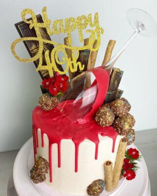 Red red wine you make me feel so fine... You keep me rockin' ALL OF THE TIME 🍷 . . .  #birthdaycake #buttercreamcake #instabakes #instabakers #funcakes #stylishcakes #funcakes #Cakedealer #40thbirthday #BakerLife #cakesdaily #bakeyourworldhappy #redredwine #cakesinstyle #cakeinspo #cakesofinstagram #cakedecorating #cakedesign #baking #dripcake #cakedecorators #buzzfeedfood #cakegram #thebakefeed #sweettooth #instacake #virginiabaker #dmvfoodie #buttercreamlove #buttercreamdesign