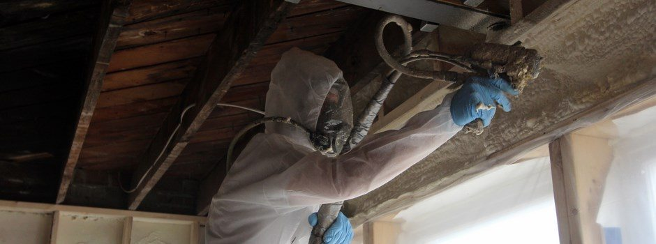 University City rehab gets Foam Engineers Applied Closed Cell Spray Foam Insulation at Steel Beam Header