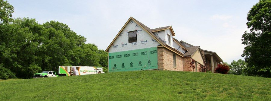 Foam Engineers at Washington MO Home Addition Project