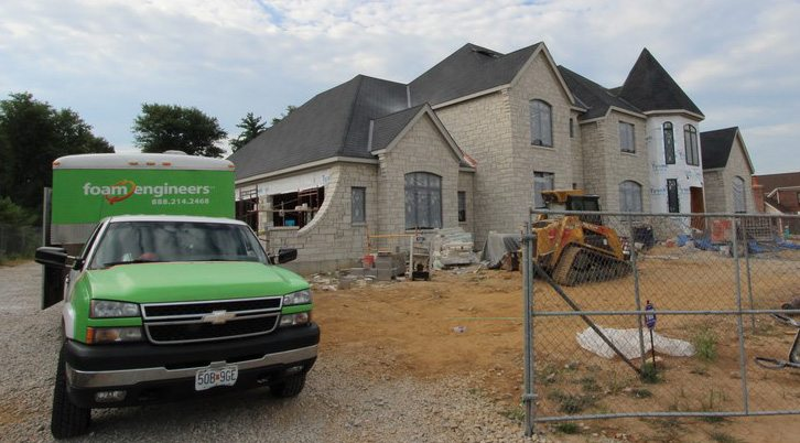 Exterior View of Spray Foam Insulated Home in Town and Country MO