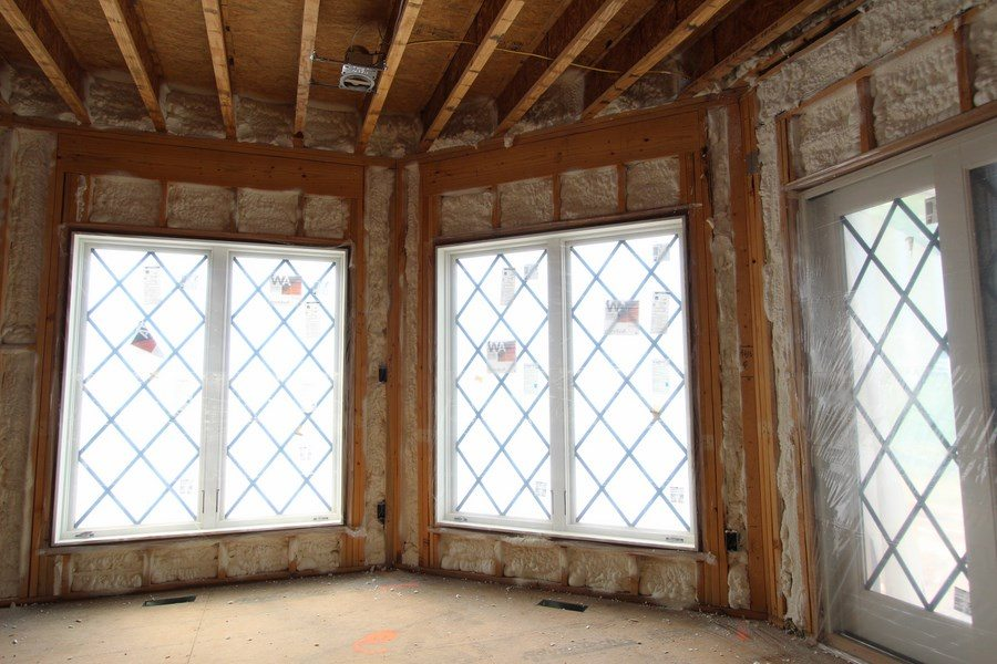 Spray Foam insulation at Rim Joists and Exterior Walls
