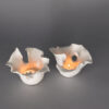 Dawson Morgan Pair Candle-Holder White Matte Small Dramatic 5x5x3