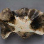 Dawson Morgan Raku Centerpiece Raku Smoke Large Oval 24x21x9