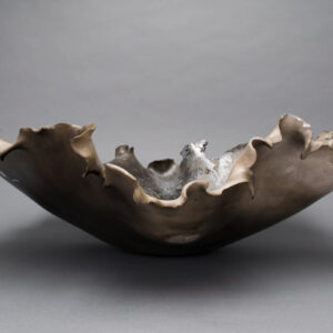 Dawson Morgan Raku Centerpiece Large Round 23x22x7