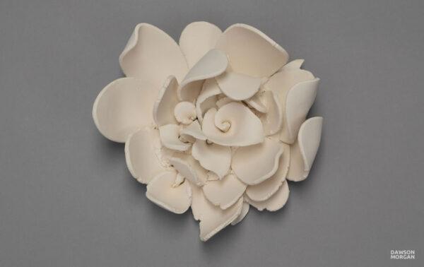Dawson Morgan White Ceramic Wall Flower