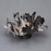 Raku Centerpiece_Raku_Smoke_Medium_Round_13x13x7