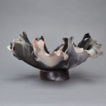Raku Centerpiece_Raku_Smoke_Medium_Round_13x13x7