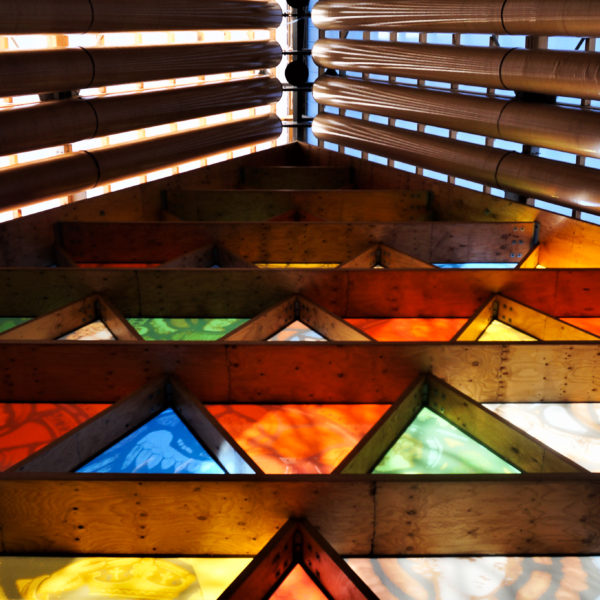 Cardboard Cathedral Window Detail
