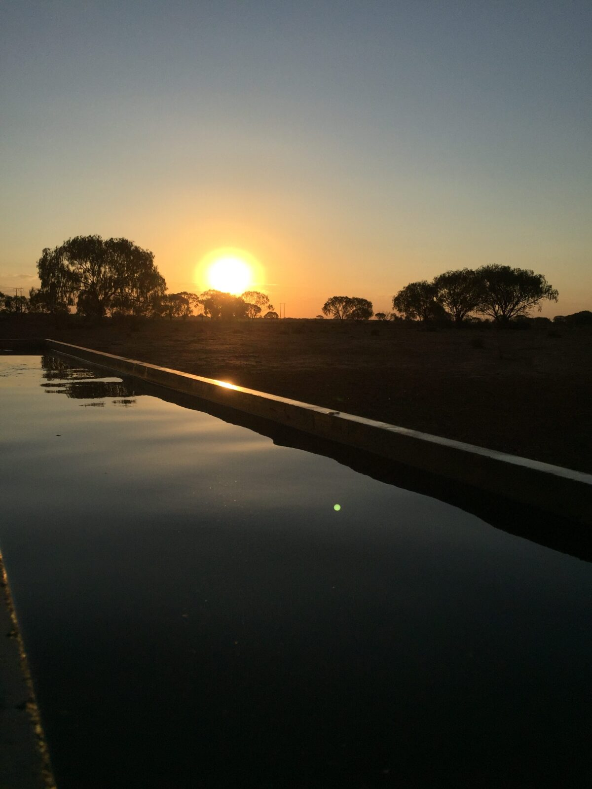 Tom Maxey_Sunset reflecting in trough_12-18