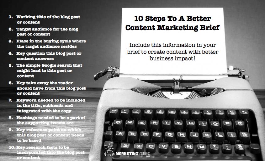 Content Marketing Brief | MarketingThink.com | @GerryMoran