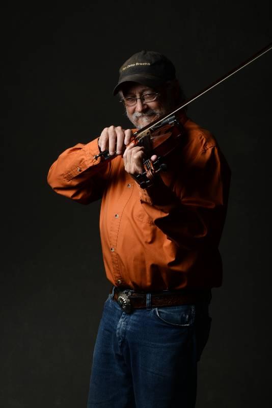 Phil Salazar playing violin