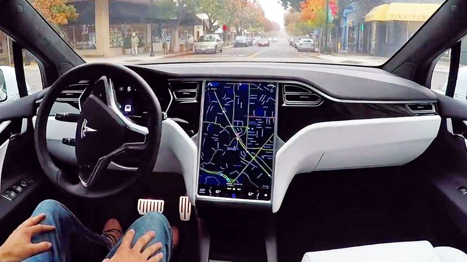 self-driving-car-tesla