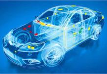 Image of sensors in car