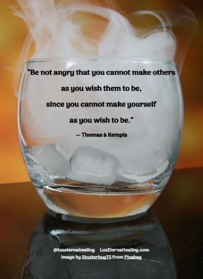 """Be not angry that you cannot make others as you wish them to be, since you cannot make yourself as you wish to be."" ― Thomas à Kempis"