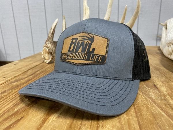Grey and Black Backwoods Life Patch Hat