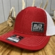 Red and White Backwoods Life hat