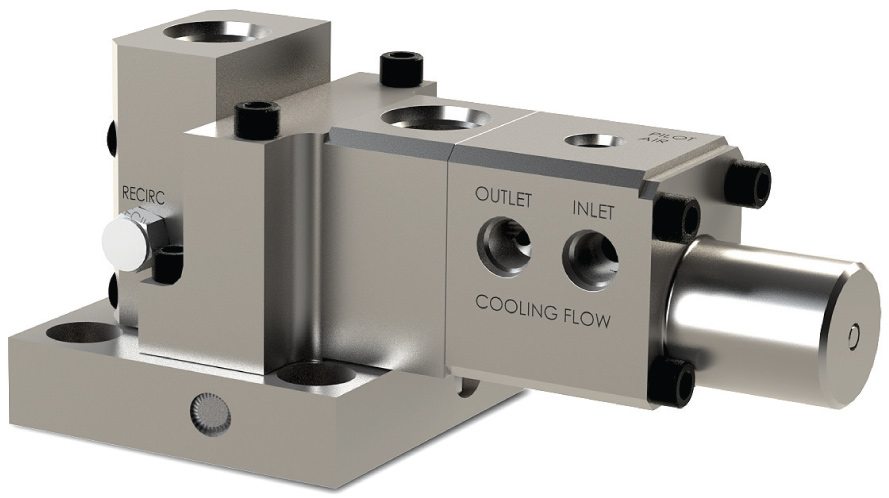 Water cooled 3-way purge valve