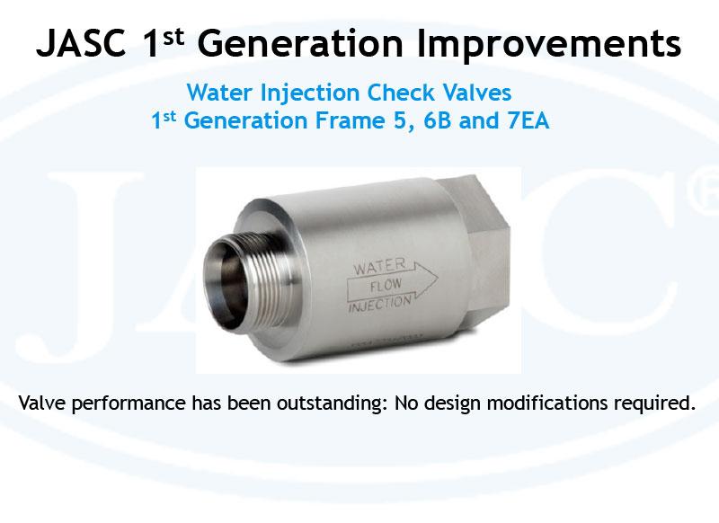 JASC 1st Gen Water Injection Check Valves