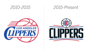 Clippers logos before and after