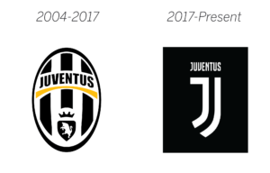 Juventus logo before and after