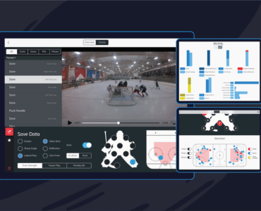 Upper Hand video analysis tools for hockey goaltenders