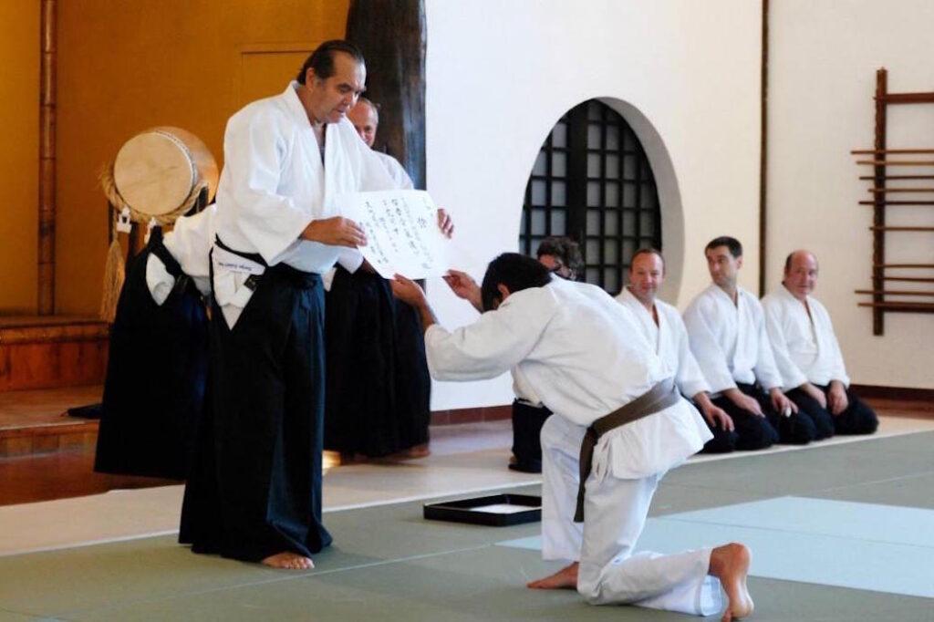 Diploma de shodan em Sintra (Portugal) em 2008.