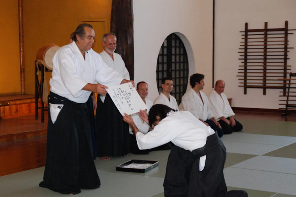 Diploma de Nidan em Sintra (Portugal) em 2010.