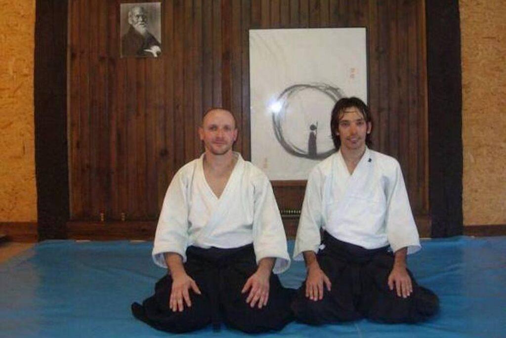 Visita ao Tada Ima Dojo em Namur (Bégica) em 2011.