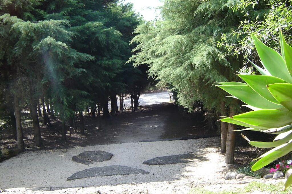 Caminho entre os Dojos principal e secundário.