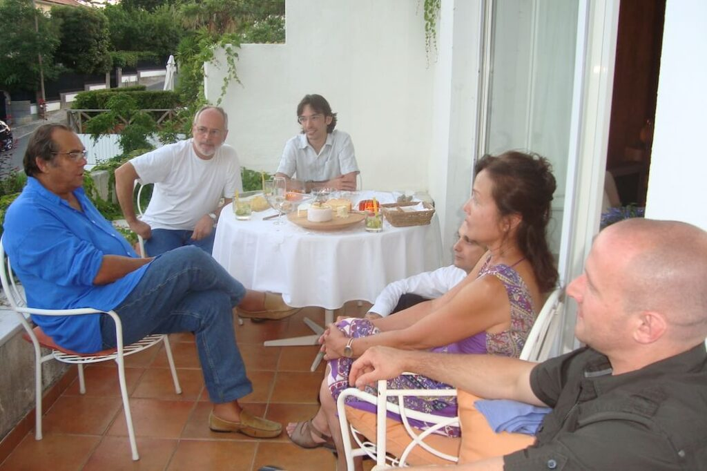 Jantar na casa do Mestre em Portugal em 2010.