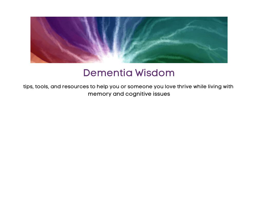 Dementia wisdom header