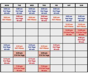 Updated Schedule 2021
